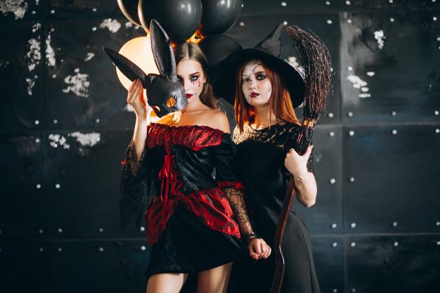 piger i halloween kostume
